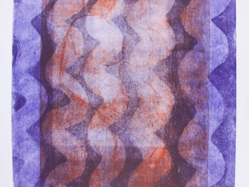 Wellenmotiv  mit zwei verschiedenen Kupferplatten
