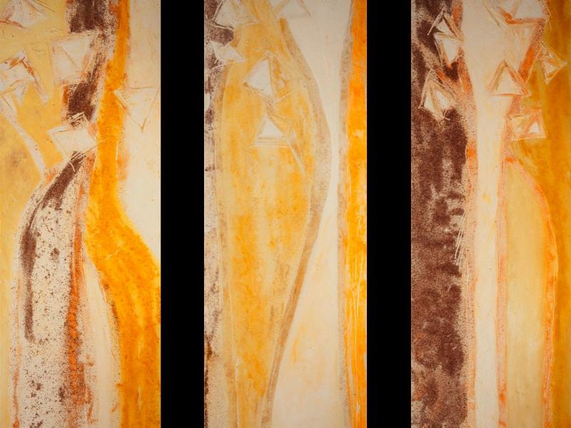 Gewürze in den Ölfarben bilden die Strukturen