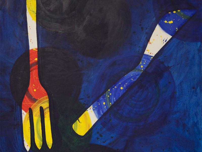 Messer und Gabel achtlos hingelegt...