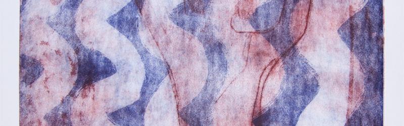 Wellenmotiv mit figuralem Hintergrund