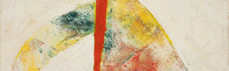 Abstraktes Bild mit figuralen Assoziationen