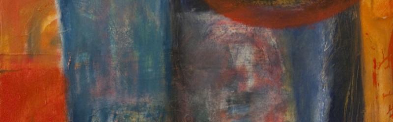 Vielschichtige Ölmalerei in starken Farbabstufungen