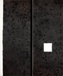 Haarstrukturen unter Schwarz-Weiß-Malerei